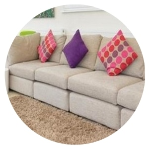 Tidy sofa & cushions with our Regular Cleaning Service