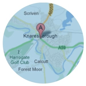 Map of areas covered for Domestic Cleaning Service in Knaresborough