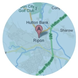 Map of areas covered for Domestic Cleaning Service in Ripon