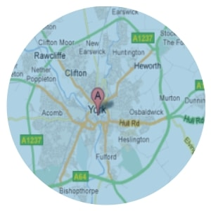 Map of area covered for Domestic Cleaning Services in York
