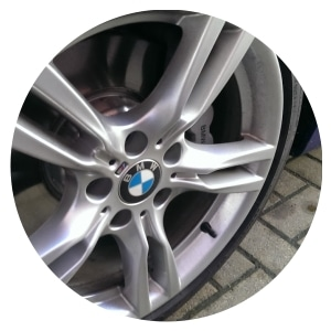 Cleaned & polished car alloys as part of our Car Valeting Service in Harrogate