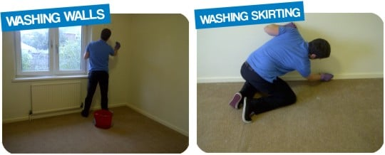 Washing Walls & Skirting Woodwork Harrogate