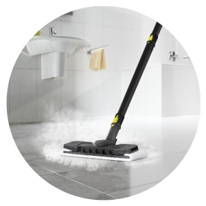 Steam Cleaning all bathroom floor to remove germs & dirt